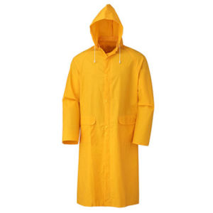 High-Visible PVC/Polyester/PVC Fire-Resistance Longcoat for Safety Work pictures & photos