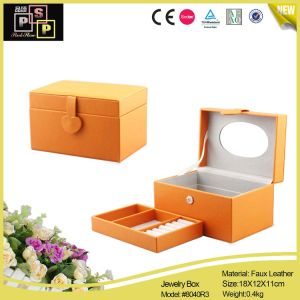 Hand Made PU Leather Distinctive and Useful Jewelry Box (8040) pictures & photos