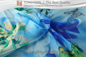 Digital Printing on Silk Chiffon Fabric