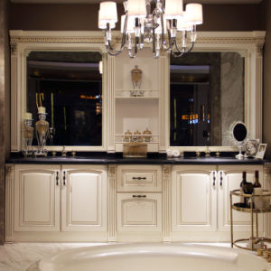Luxury White Noble Bathroom Storage Cabinet (OP14-023) pictures & photos