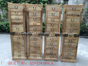 Antique Country Natural Camphor Wood Drawer Art Home Cabinet