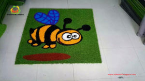 Environmental Friendly Colorful Artificial Grass for Kindergarten pictures & photos