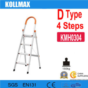4 Steps D Type Household Aluminum Ladder pictures & photos