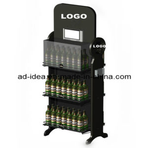 Wooden Wine Display Stand, Flooring Wooden Wine Display Rack pictures & photos