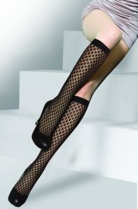 DOT Pattern Fishnet Knee High Socks HD301 pictures & photos