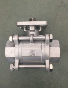 Stainless Steel 3PC Ball Valve with ISO 5211 Mounting Pad, Threaded Ball Valve pictures & photos