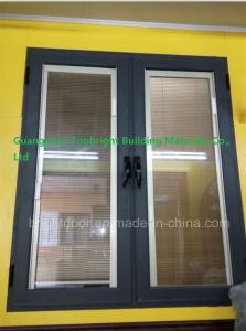 Guangzhou Commerical French Casement Window with Blinds pictures & photos