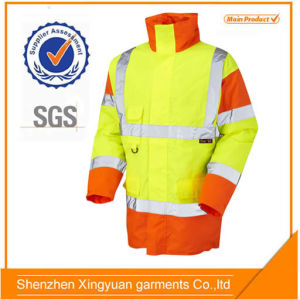 Hi Vis Rain Jacket with 5cm Reflector