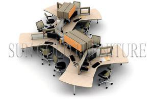 new design partition unique office desks 6 people workstation szws354
