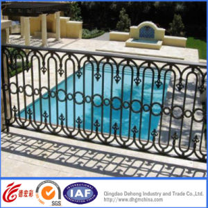 Security Powder Coated Iron Balcony Fence / Economic Iron Balcony Fence/Railing pictures & photos