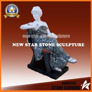 Greek Marble Female Statue in Multicolor Marble Ms-74 pictures & photos