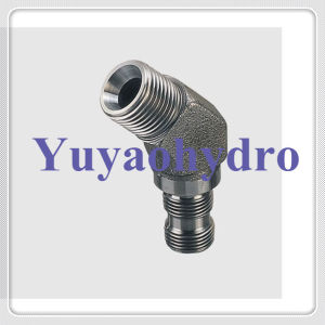 JIS Bsp Thread 30 Deg Flare Cone Male Elbow Fittings pictures & photos