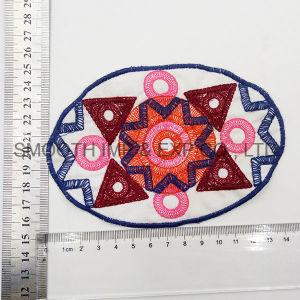 Wholesale Colorful Oval Garment Accessories Handwork Cotton Ethnic Embroidery Patch pictures & photos