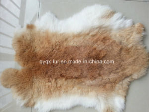 Natural Color Rabbit Fur Skin for Home Decoration pictures & photos