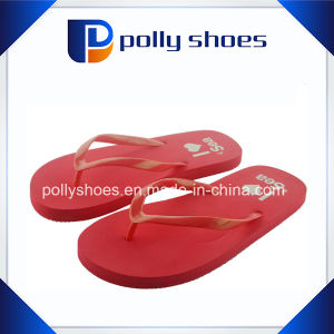 Rubber Flip Flops for Women Pop Color Sandals Slippers Pink pictures & photos