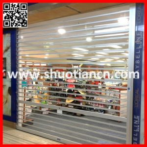 Motorised Polycarboante Clear Transparent Rolling Door (ST-003) pictures & photos
