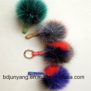 Faux Fur Pompom Key Ring Faux Fox Fur POM Fur Balls pictures & photos