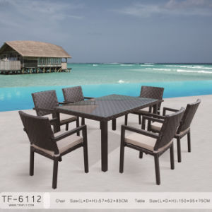 Cube Dining Garden Outdoor Furniture in Wide Film Rattan