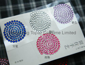 Wholesale Self Adhesive Acrylic Rhinestone Crystal Sticker (TS-500) pictures & photos