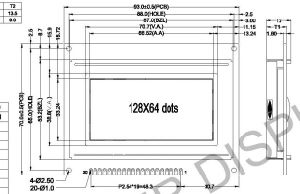 198X64 Dots Graphic LCD Module with Y/G Backlight: AGM1964f-Fl-Ybw pictures & photos