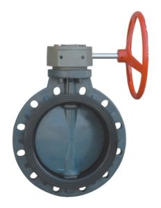 Best Rpp Worm Gear Butterfly Valve, Industrial Plastic Valve, PVC Valve pictures & photos