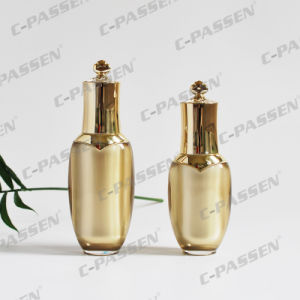 Luxury Gold Crown Cosmetic Packaging Acrylic Bottle Cream Jar (PPC-NEW-004) pictures & photos