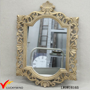 Gilded Wooden Framed Vintage French Hanging Mirror pictures & photos