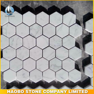Carrara Hexagon Marble Mosaic Tile pictures & photos