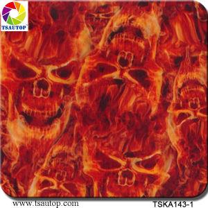 Width 1 M Flame Design Aqua Print Hydrographic Film&Tska143-1 pictures & photos