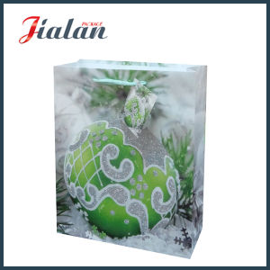 Printed Coated Paper with Glitter Christmas Gifts Packing Shopping Bags pictures & photos