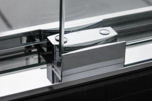 Horizontal Steel Handle Sliding Bypass Shower Door Screen pictures & photos
