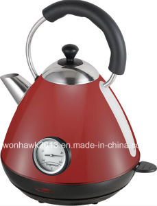 Red Color Electric Kettle with Thermometer Sb-3019lt pictures & photos