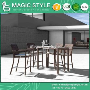 Outdoor Bar Set with Special Weaving Rattan Bar Stool (Magic Style) pictures & photos