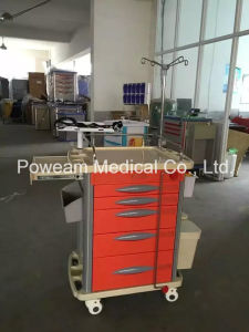 Hospital Medical Emergency Treatment Trolley Treatment Cart pictures & photos