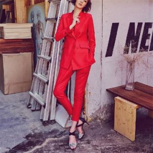 Made to Measure Fashion Stylish Ladies Red Suit L51626 pictures & photos