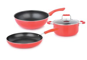 Nonstick Scratch Coating 4 Piece Cookware Set Induction Bottom pictures & photos
