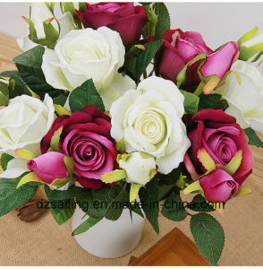 Single Stem Rose Pick Artificial Flower for Wedding Decoration (SW03334) pictures & photos