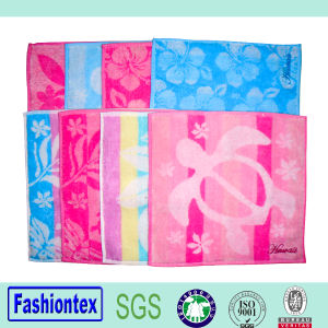 Cotton Jacquard Square Hand Towel pictures & photos