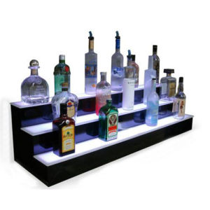 China Acrylic Lightbox Counter Top Display Shelf for Bottles, POS Display Merchandiser pictures & photos