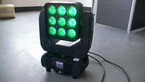 9X10W RGBW Wash LED Matrix Moving Head for Stage Lighting pictures & photos