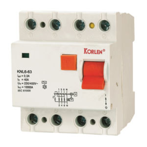 High Quality Residual Current Circuit Breaker Knl6-63 (F7) pictures & photos