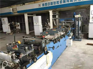 Second Hand Large Output Double Layer Six Lines Bag Cuting Machine pictures & photos