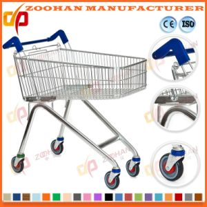 Durable European Style Zinc Supermarket Shopping Cart Trolley (Zht135) pictures & photos