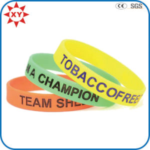 Colorful Custom Design Silicone Rubber Wristband for Decoration pictures & photos