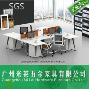 Metal Structure Office Furniture U Shape Office Desk for 4 Seater pictures & photos