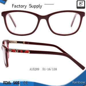 New Leather Temple Acetate Optical Frames (A15289)