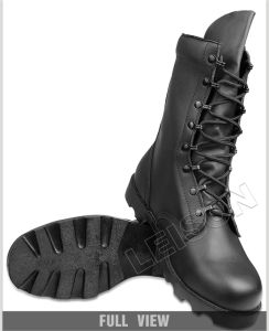 Tactical Boots of Full Grain Leather Upper with Durable Non-Slip Outsole pictures & photos