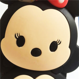 DOT Bow Double Doll Cute Minnie Silicone Phone Case for Samsung Galaxy S6 S5 S6edge pictures & photos
