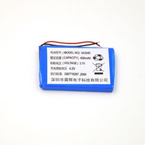 3.7V Lithium Polymer Battery 043040 403040 450mAh Rechargeable Li-ion Battery pictures & photos