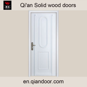 Western Style White Painted Solid Wood Door, White Color pictures & photos